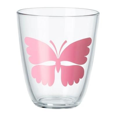 لیوان بلور پروانه صورتی POPPIG