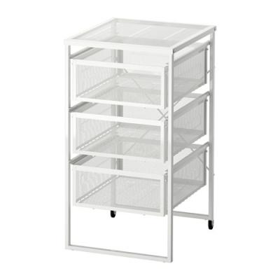 قفسه فلزی سه طبقه سفید LENNART