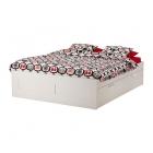 تخت سفید بدون کفی 160 ایکیا  BRIMNES