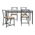 میز و صندلی 4 نفره فلزی ایکیا GRANAS
