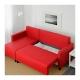 مبل تخت خوابشو قرمز ایکیا LUGNVIK