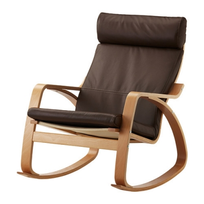 صندلی راکینگ قهوه ای ایکیا POANG