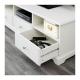 میز تلویزیون چوبی سفید ایکیا LIATORP