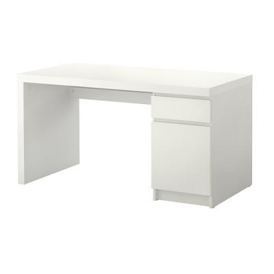 میز تحریر 140x65 سفید ایکیا MALM