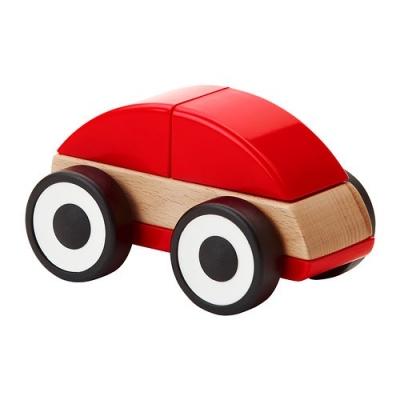 ماشين چوبي قرمز lillabo