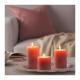 ست شمع معطر گل دار صورتی KORNIG