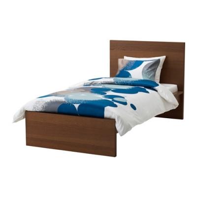 تخت خواب یکنفره قهوه ای MALM