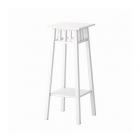 چهارپایه چوبی سفید ایکیا LANTLIV