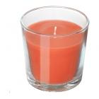 شمع لیوانی نارنجی ایکیا SINNLIG