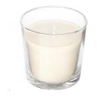 شمع لیوانی سفید وانیل ایکیا SINNLIG