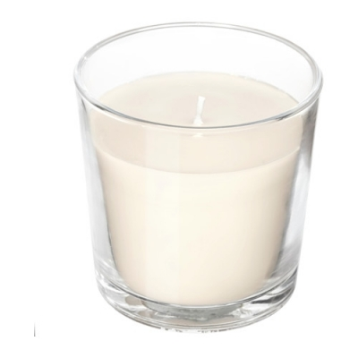 شمع لیوانی سفید وانیل SINNLIG