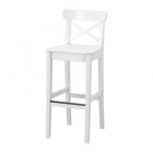 صندلی چوبی 63 سانت بار سفید ایکیا INGOLF