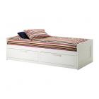 کاناپه تخت خوابشو سفید دو کشو  ایکیا BRIMNES