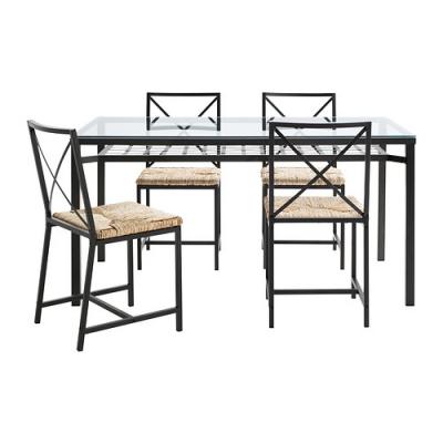 میز و صندلی چهار نفره فلزی ایکیا GRANAS