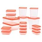 ست ظروف نگهداری مواد غذایی نارنجی ایکیا PRUTA