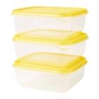 ست ظروف نگهداری مواد غذایی زرد ایکیا PRUTA
