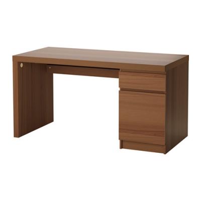 میز تحریر 140x65 گردویی ایکیا MALM