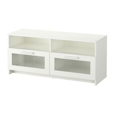 میز تلویزیون سفید کشو دار ایکیا BRIMNES
