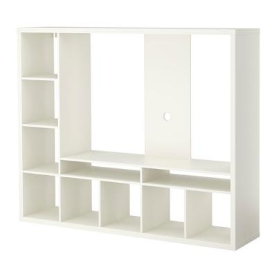 میز تلویزیون همراه با طبقه بندی سفید ایکیا LAPPLAND