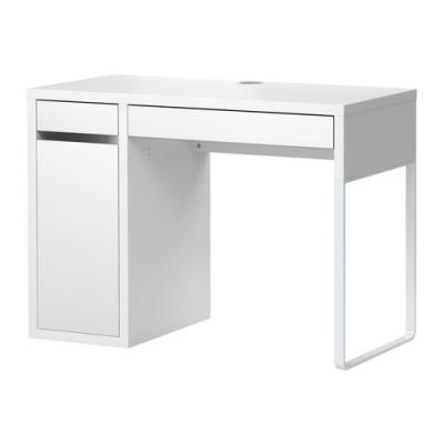 میز تحریر سفید باکس دار ایکیا MICKE