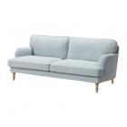 کاناپه سه نفره آبی روشن ایکیا STOCKSUND