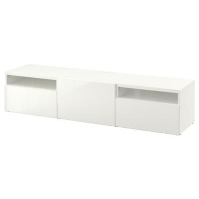 میز تلویزیون سفید ایکیا BESTA/SELSVIKEN