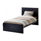 تخت خواب یک نفره ونگه همراه با کفی ایکیا  MALM