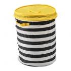 باکس اسباب بازی با درب زرد ایکیا FLYTTBAR