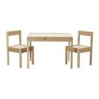 میز و صندلی چوبی کودک ایکیا LATT