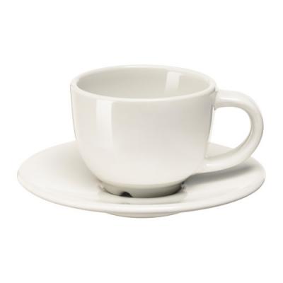 فنجان و نعلبکی سفید ایکیا VARDAGEN
