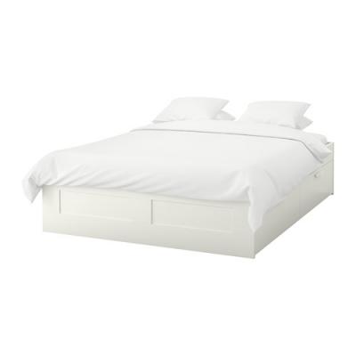 تخت سفید بدون کفی 140 ایکیا BRIMNES