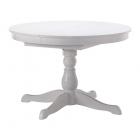 میز گرد ناهارخوری کشویی سفید ایکیا INGATORP