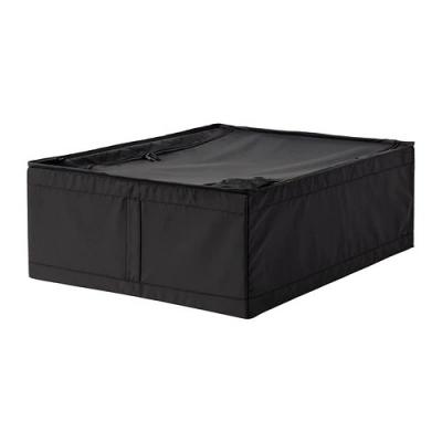 باکس مشکی زیپ دار 44x55x19 ایکیا SKUBB