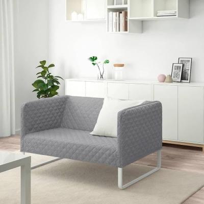 کاناپه دو نفره طوسی knopparp